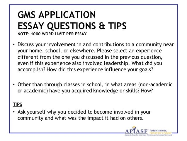 scholarship essay question examples