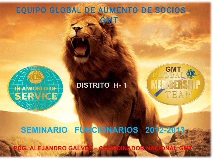 EQUIPO GLOBAL DE AUMENTO DE SOCIOS -                 GMT                                        GMT                DISTRIT...