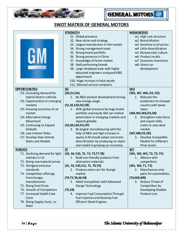 bcg matrix for gm Beyond the matrix organization by tom peters beyond the matrix organization article actions share this  by shedding their traditional functional organizations for a divisional structure based on the model initiated by general motors and dupont in the 1920s.