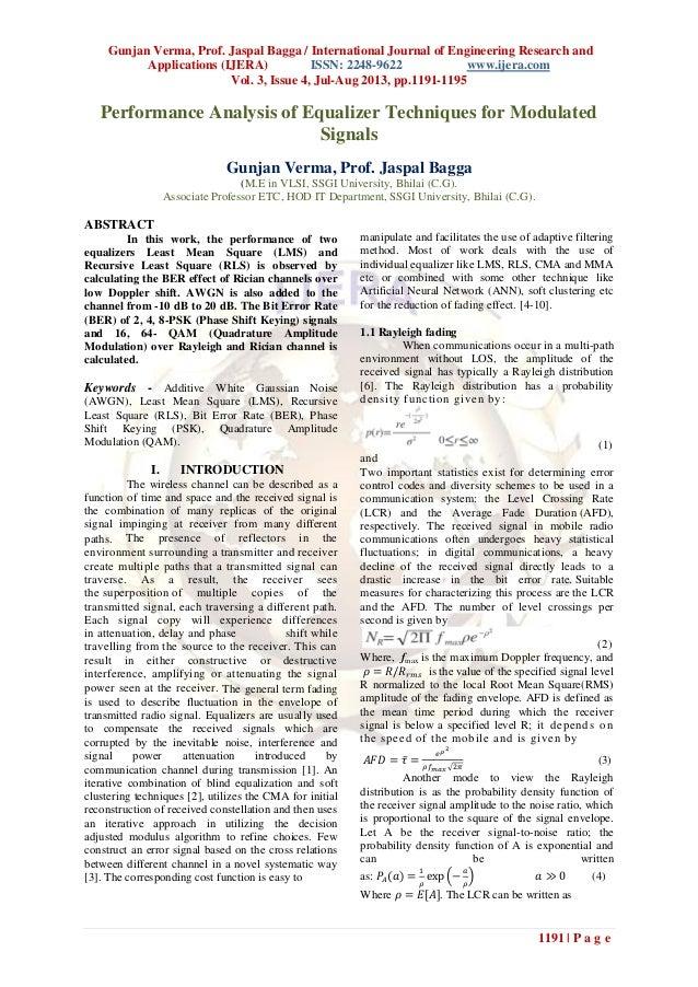 Gunjan Verma, Prof. Jaspal Bagga / International Journal of Engineering Research and Applications (IJERA) ISSN: 2248-9622 ...