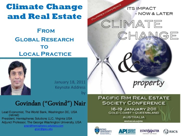 Climate Change  and Real Estate              From         Global Research                to          Local Practice       ...