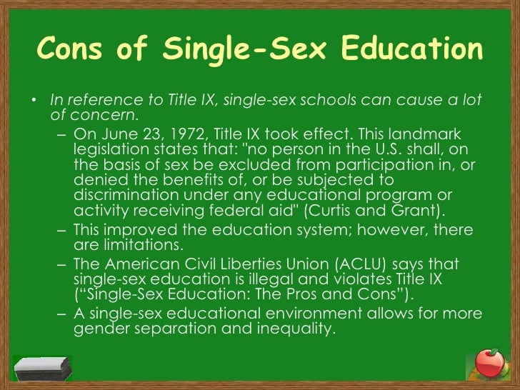 Single-sex schools Essay