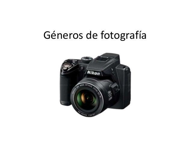 Géneros de fotografía