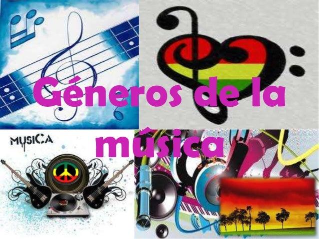 Géneros de la  música