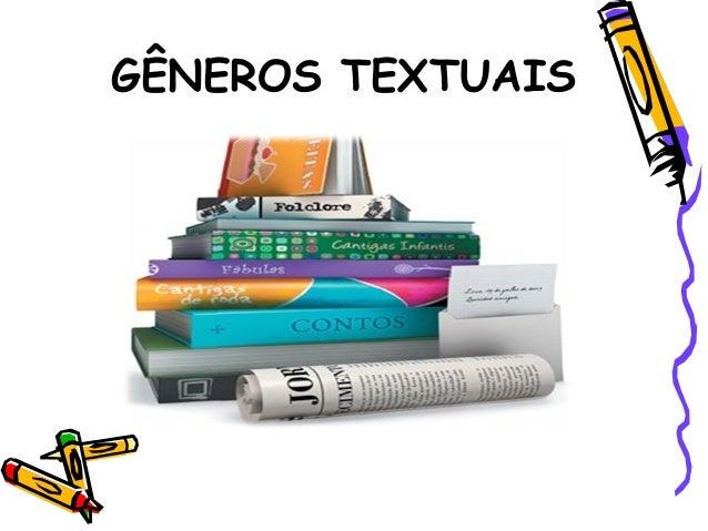 Gêneros e tipos textuais