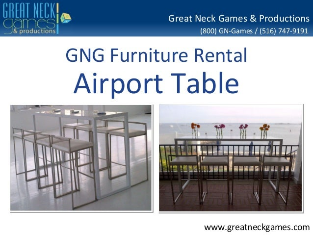 Gng furniture rental airport table for Rent one furniture rental