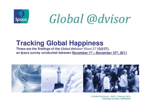 La felicità da una prospettiva globale