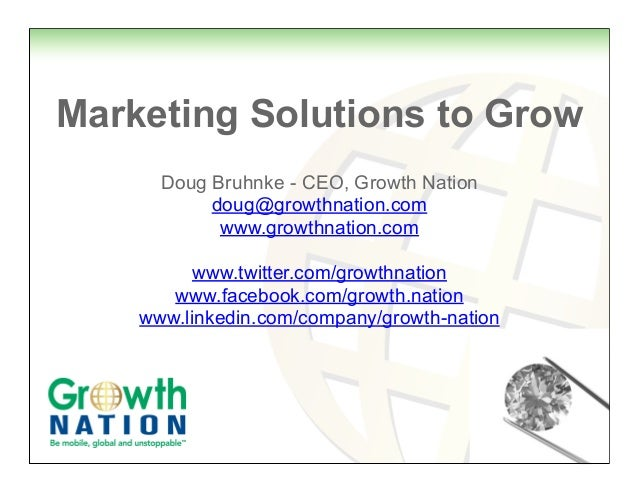 Growth Nation Overview 2014 Marketing Sales Publicity Global