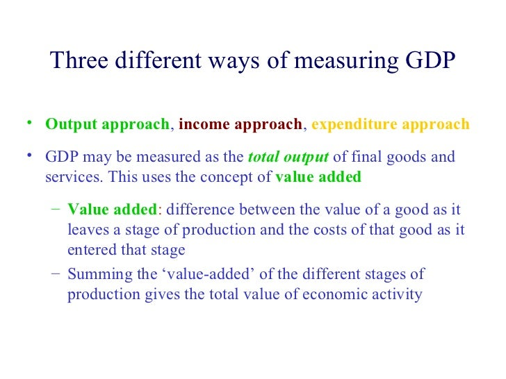 different approaches of gdp accounting