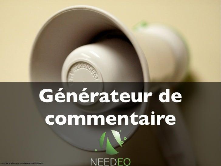 Générateur de                                        Générateur d'avis                                         commentaire...