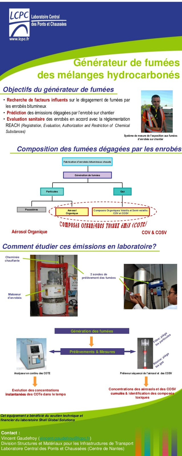www.lcpc.fr Système de mesure de l'exposition aux fumées d'enrobés sur chantier • Recherche de facteurs influents sur le d...