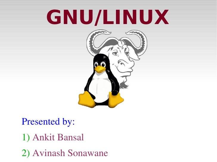 Gnu linux intro