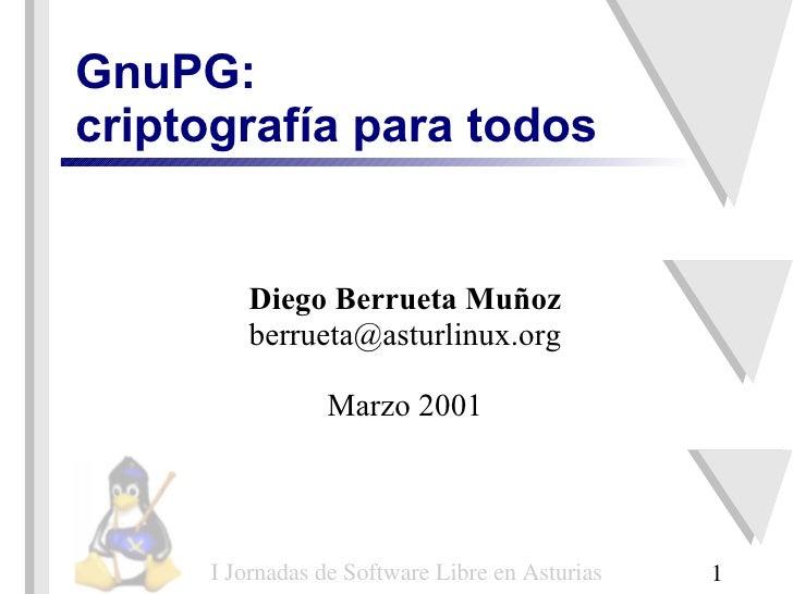 GnuPG: criptografía para todos