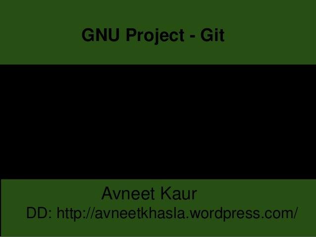 GNU Project - Git