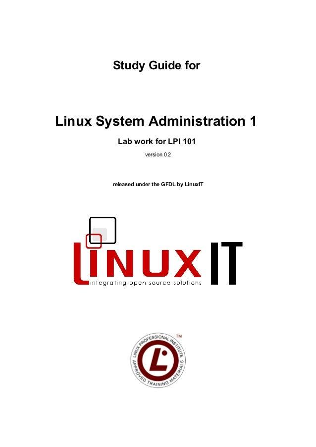 Gnu study guide linux admin 1 (lab work lpi 101) v 0.2