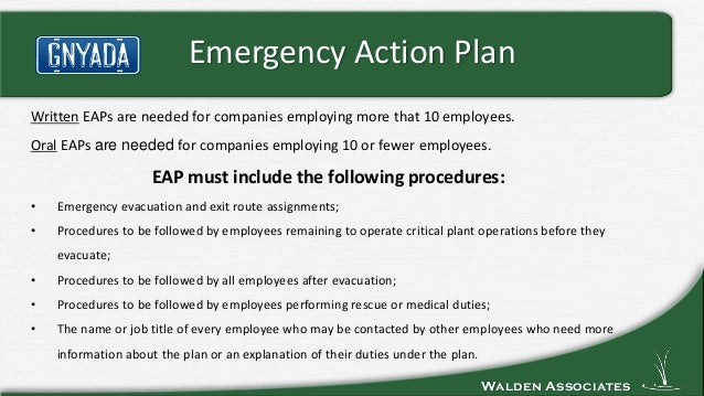Gnyada Emergency Action Plan