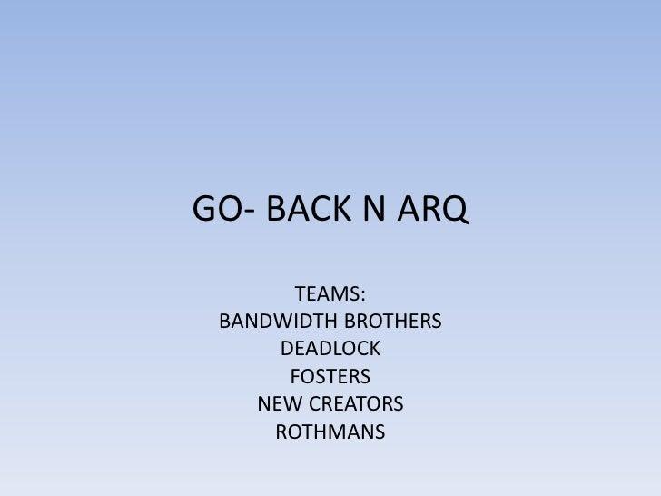Go  Back N ARQ