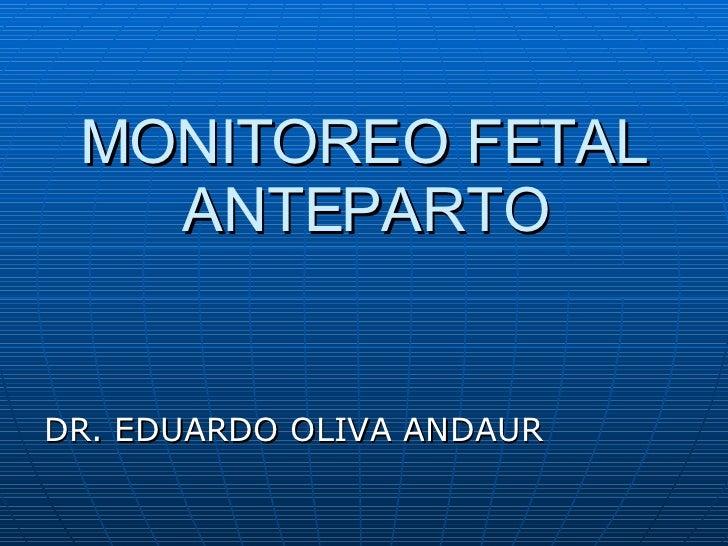 Go Clase 20 Monitoreo Anteparto Dr Oliva