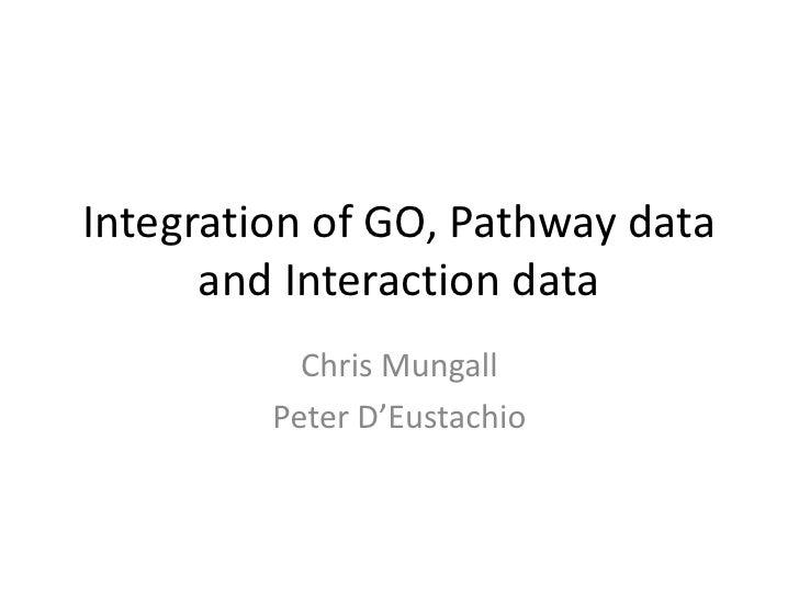 Go pathway-interaction-integration