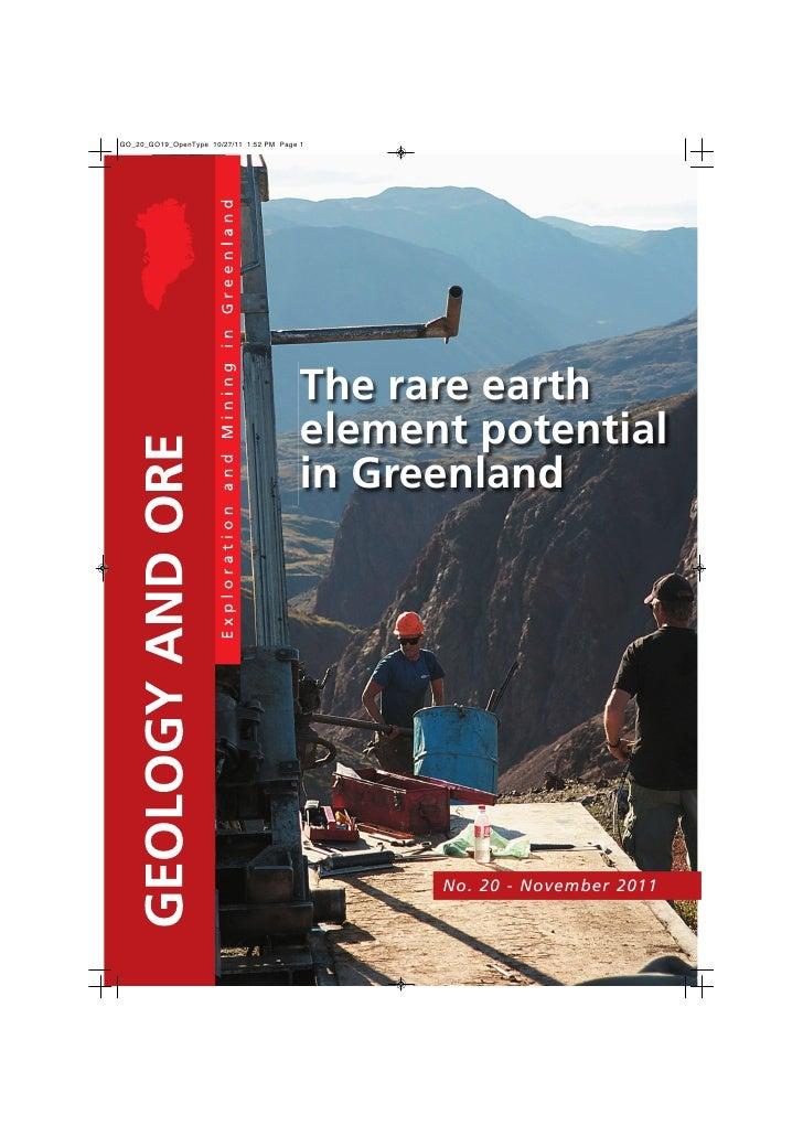 The rare earthelement potentialin Greenland      No. 20 - November 2011