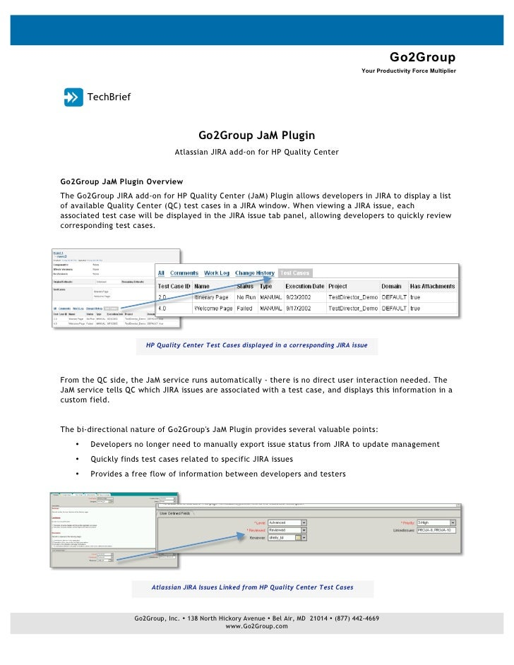 Go2Group JaM Plugin Technical Brief