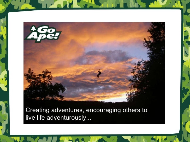 Creating adventures, encouraging others to  live life adventurously...