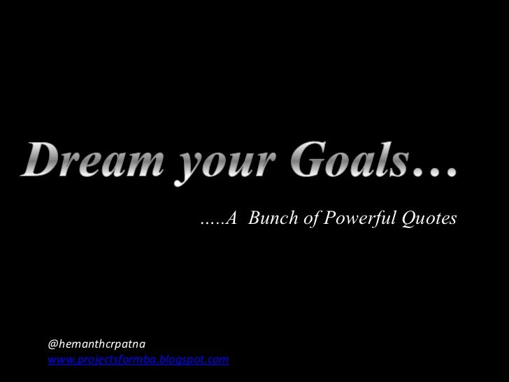 Dream your Goal