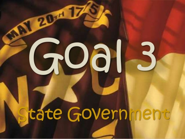 Goal 3 State Government