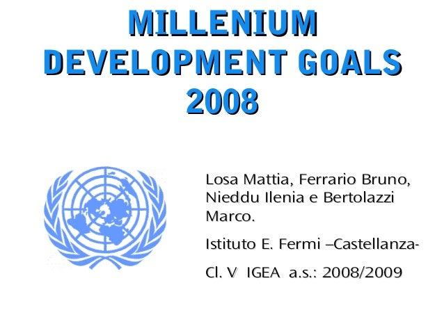 Millennium Development Goal #3