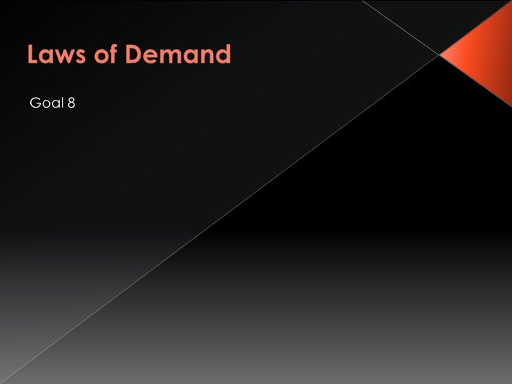 Goal 8 supply and demand changes