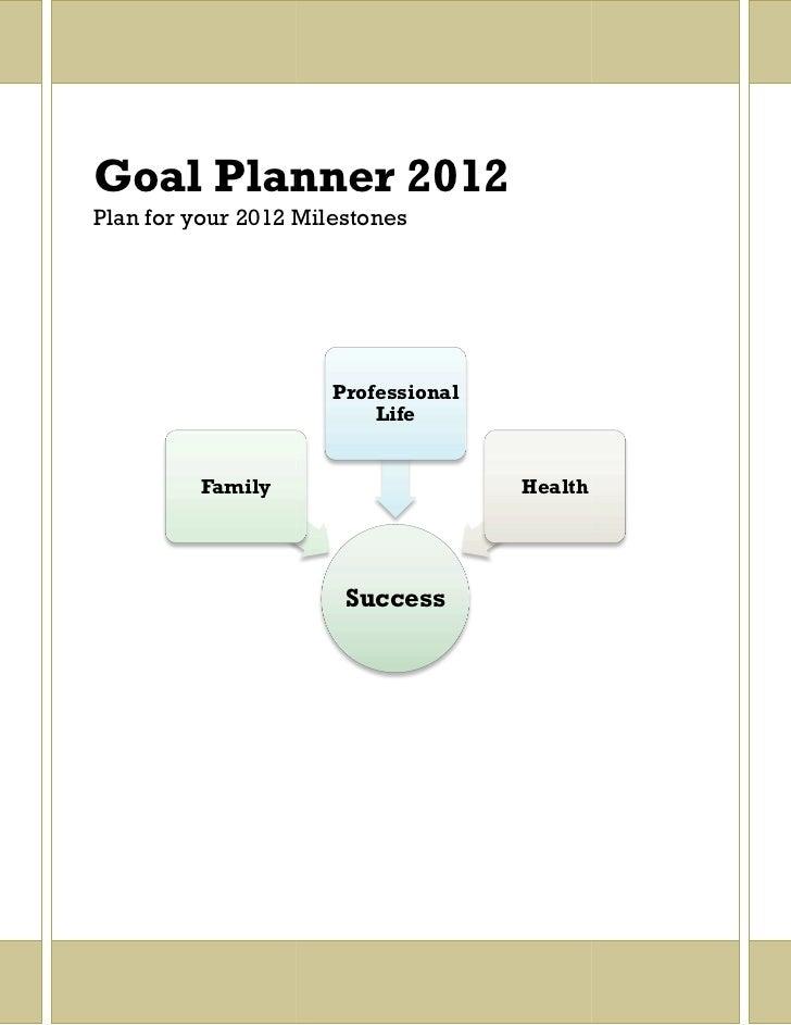 Goal planner 2012