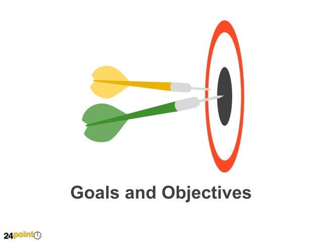 Goals and Revenue Diagram - PowerPoint Slides