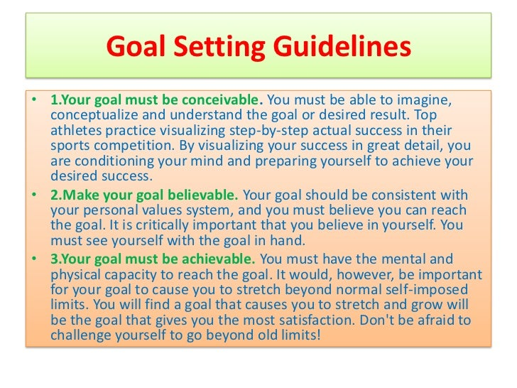 Goal setting worksheet for athletes