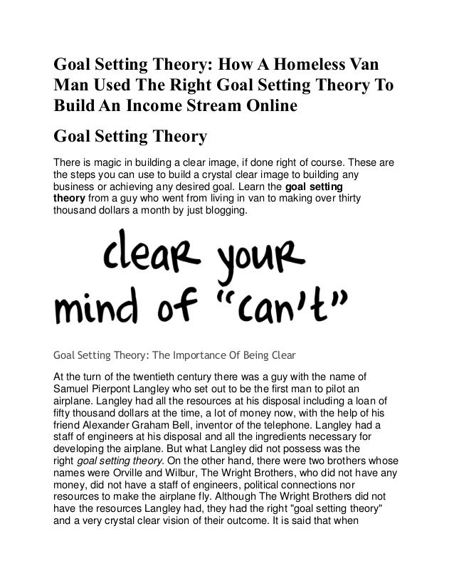 goal setting theory toyota There is a greater emphasis on participative management styles and people management skills  management theory y  goal setting and.