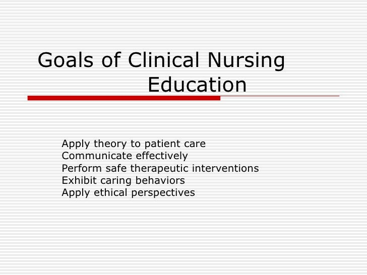 Nursing Career Goals And Objectives Goals Of Clinical