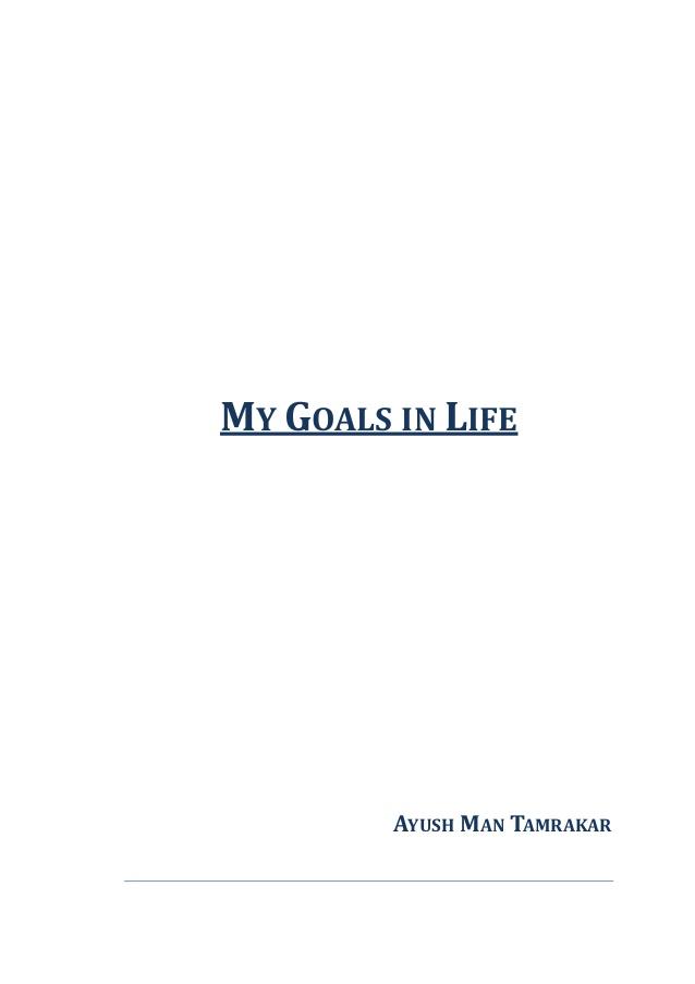 goal in life essay