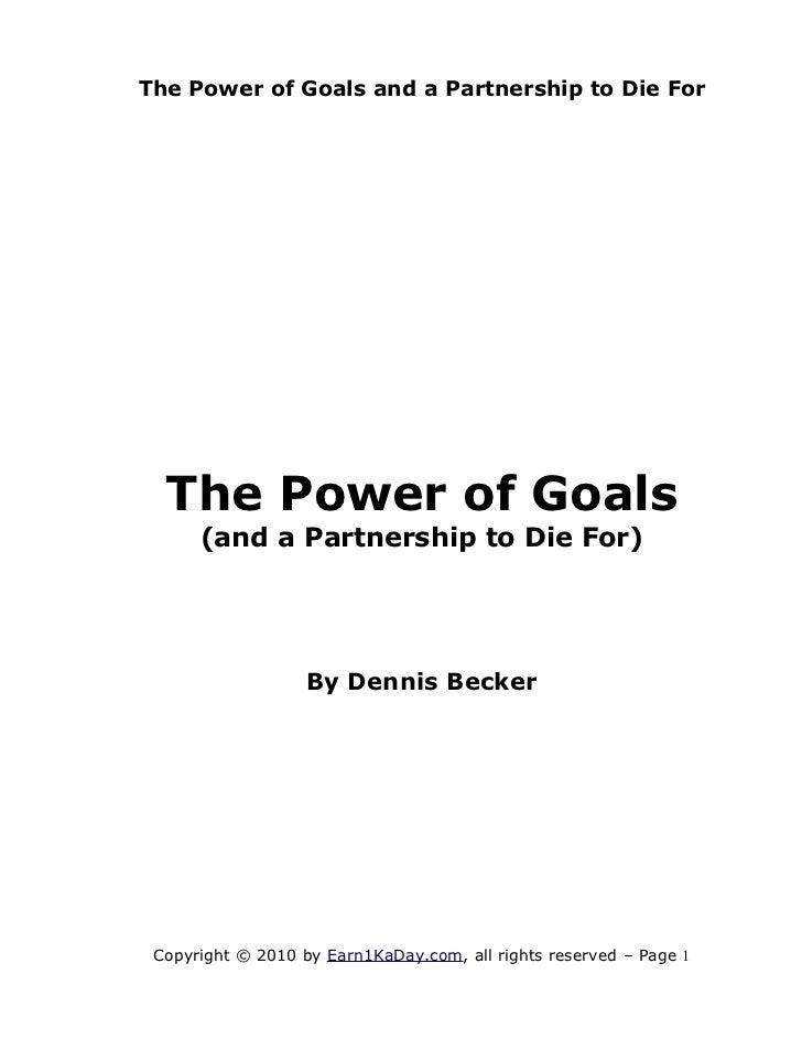 Goals partnership