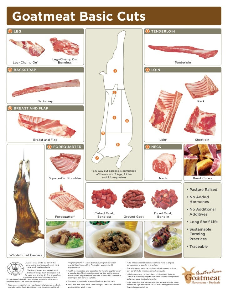 Goat meat cuts chart - photo#7