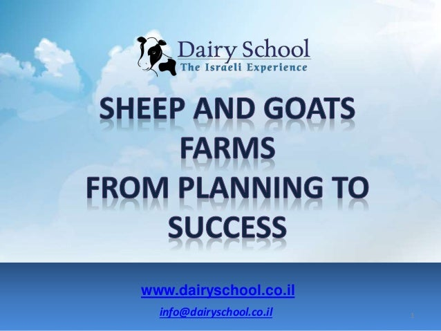 info@dairyschool.co.il www.dairyschool.co.il 1