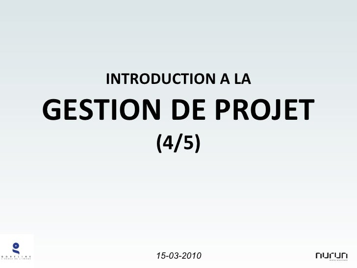 Project Management Introduction (4/5) for Gobelins students