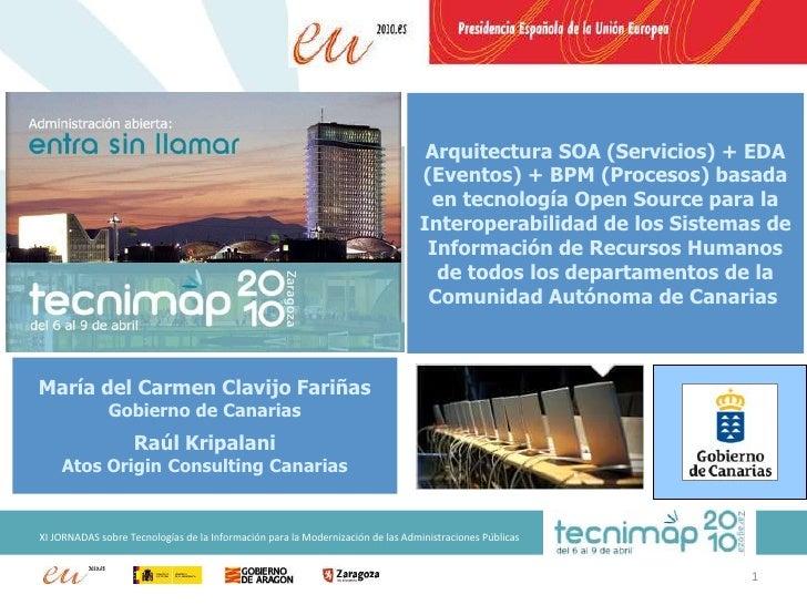 Ponencia TECNIMAP 2010 - Gobierno de Canarias - Interoperabilidad RRHH