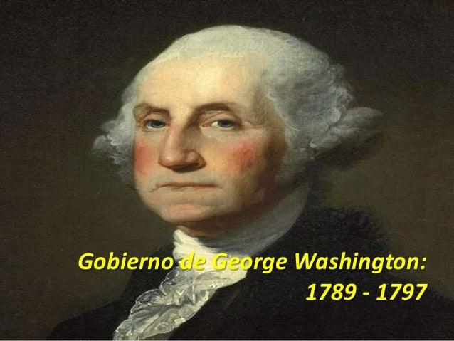 gobierno de george washington