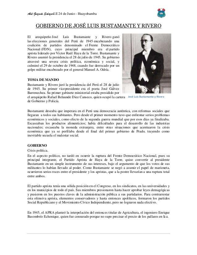 gobierno de jose: