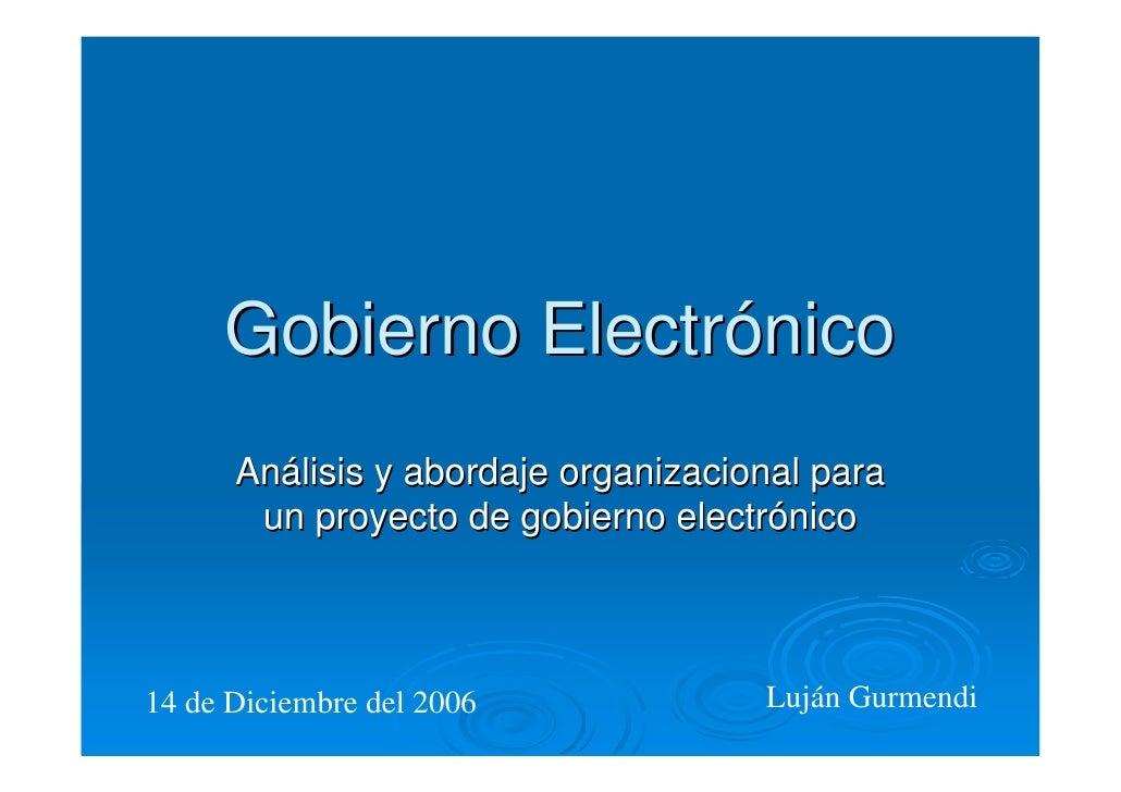 Gobierno electronico informaticos