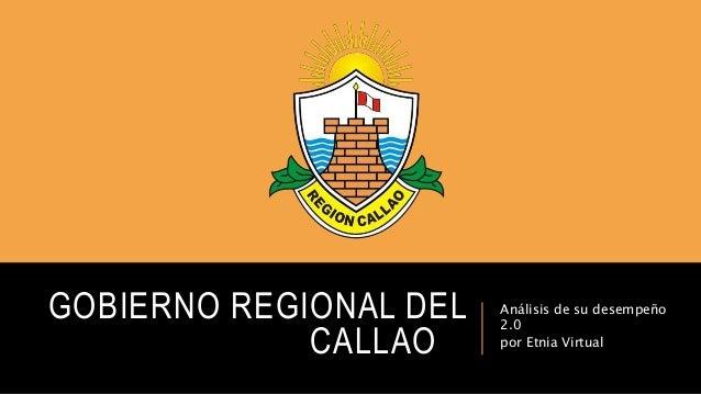 Gobierno regional del Callao 2.0