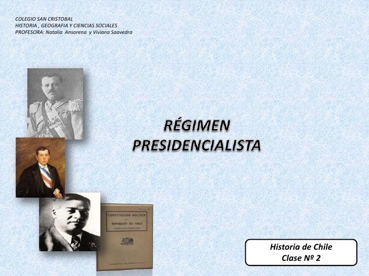 COLEGIO SAN CRISTOBALHISTORIA , GEOGRAFIA Y CIENCIAS SOCIALESPROFESORA: Natalia Ansorena y Viviana Saavedra               ...