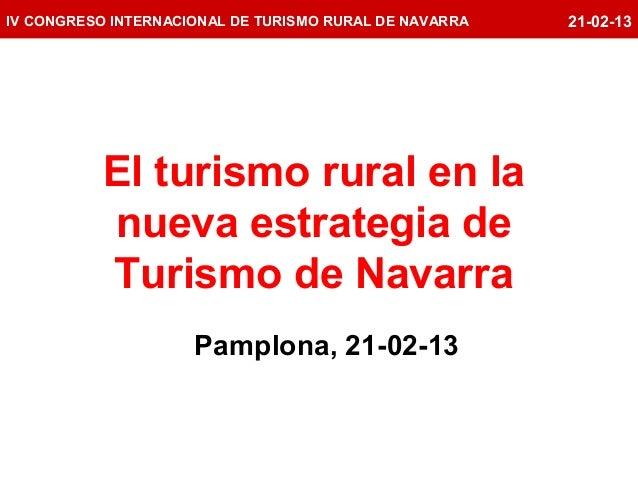 Estrategia de turismo del Gobierno de Navarra