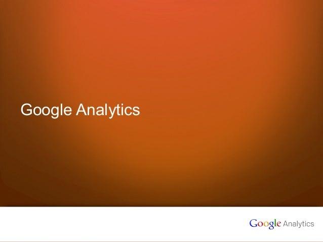 1 Google confidential Google Analytics