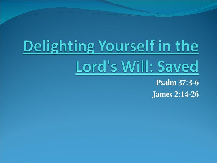 God S  Will Saved
