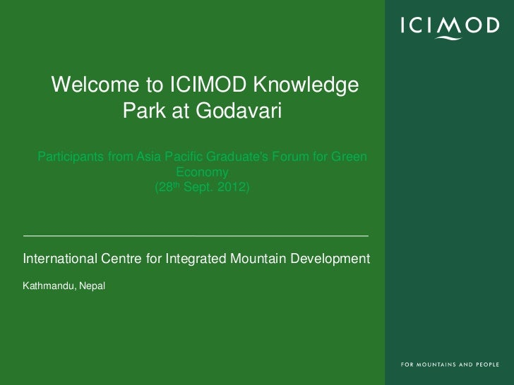 Over view of Knowledge Park at Godavari By Samden Sherpa, ICIMOD